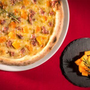 pizza salsiccia e zucca trofarello