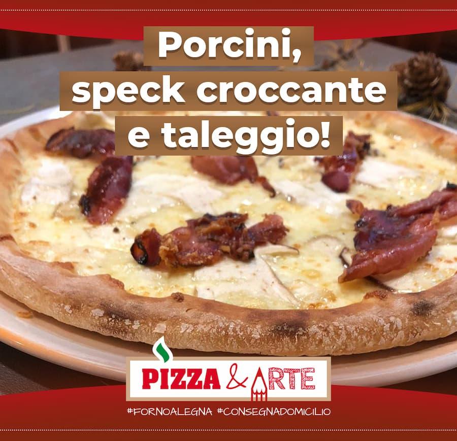pizza porcini speck taleggio