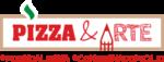 pizza e arte logo lettering
